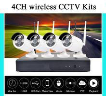 4CH Wireless NVR CCTV System 960P IP Camera WIFI Waterproof IR Night Vison Home Security Camera Surveillance Kit 2TB HDD