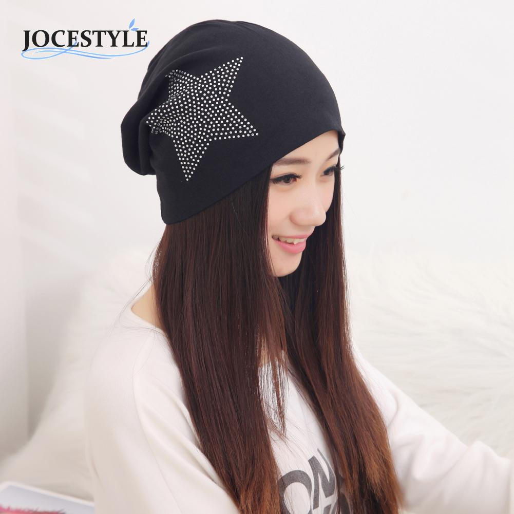 5colors Women Winter Hat Casual Fashion Knit Baggy Beanie Hat Star Warm Winter Hats Head Cap for Girls Women christmas gift hot winter beanie knit crochet ski hat plicate baggy oversized slouch unisex cap