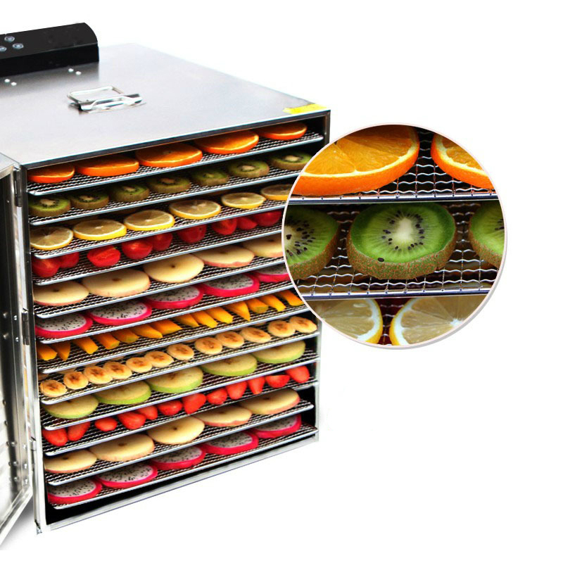 Dehydrator-Dryer for Mushroom Fruit Vegetable Meat Timing-Drying-Machine 12-Layers Stainless-Steel