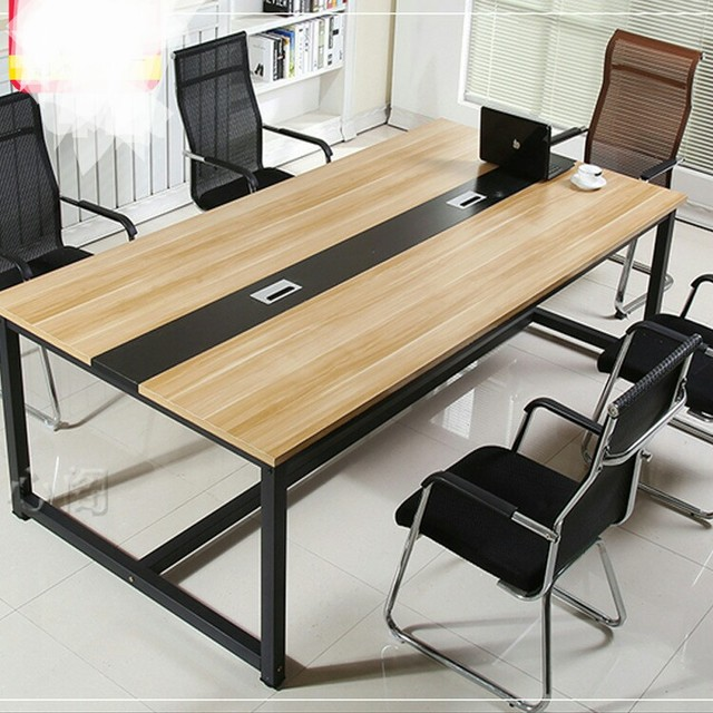 Conference Tables Office Furniture Commercial Furniture Wood+metal Office  Tables Office Desk Multi Size Wholesale