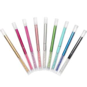 Image 4 - Pinceaux à cils de maquillage 10 couleurs pinceaux à poignée diamantée applicateur de Mascara brosses à baguette pinceau à cils strass outil de maquillage