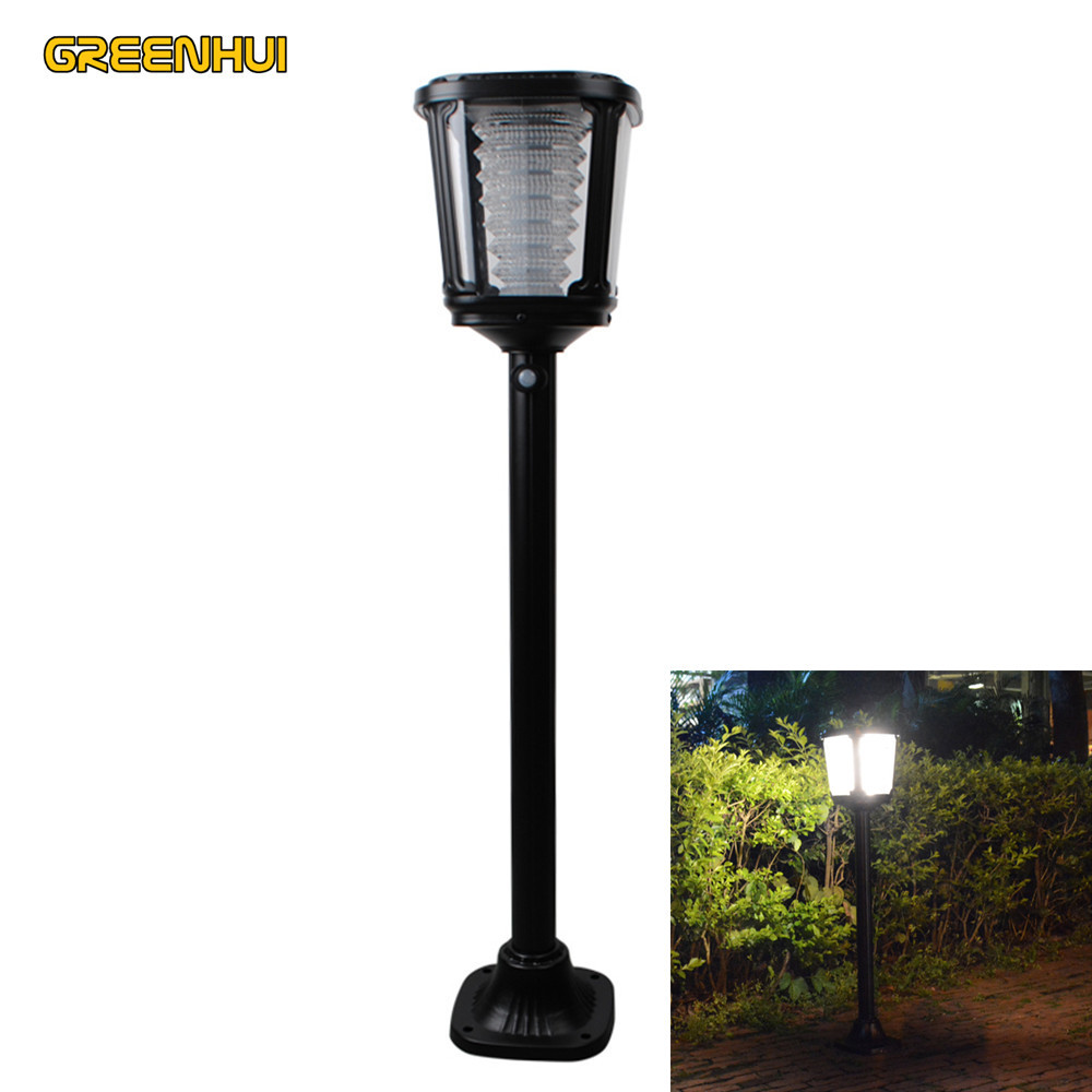 2017 Hot Selling Solar Powered led Lawn Lights Motion Detection spotlight Outdoor Landscape Garden Yard Path Lawn Solar Lamps solar powered lights with motion sensor lamp dual head spotlight led solar lamps 14leds wall light for yard garden auto on off