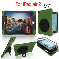 For IPad Air 2 Heavy Duty Tablet Case Fundas PC Silicon Armor Back Cases Cover For