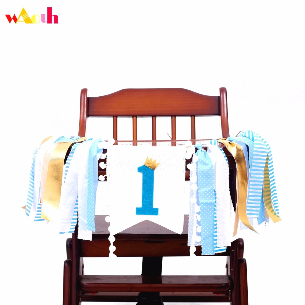 Free shipping Birthday Highchair Banner Photo Prop Backdrop Cake 1st Birthday Party Garland Banner Baby shower Decorations