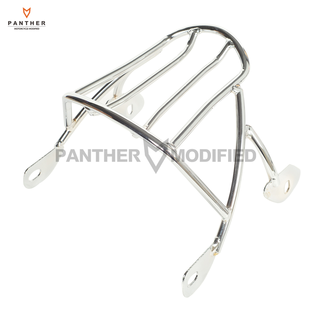 Chrome Motorcycle Solo Luggage Rack Case for Harley Sportster XL 1200 XL883 XL1200 Iron Seventy Two 883 2004-2017 skull motocycle cnc derby timing timer cover engine for harley xl xr sportster 883 1200 xl xl883 xl1200 forty eight seventy two