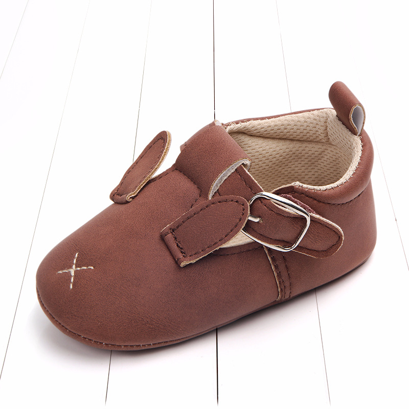 Baby First Walkers Matte leather Shoes for Baby Girl Boy Cartoon Animal Newborn Slippers Footwear Booties Kids Gift Child Shoes (34)