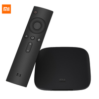 [Versione globale] Xiaomi Mi Tv Box Android 3 TV Box 4 K 60fps Amlogic Quad Core Xiaomi Box 3 Cortex-A53 Mali-2 GB 2.4/5G WIFI