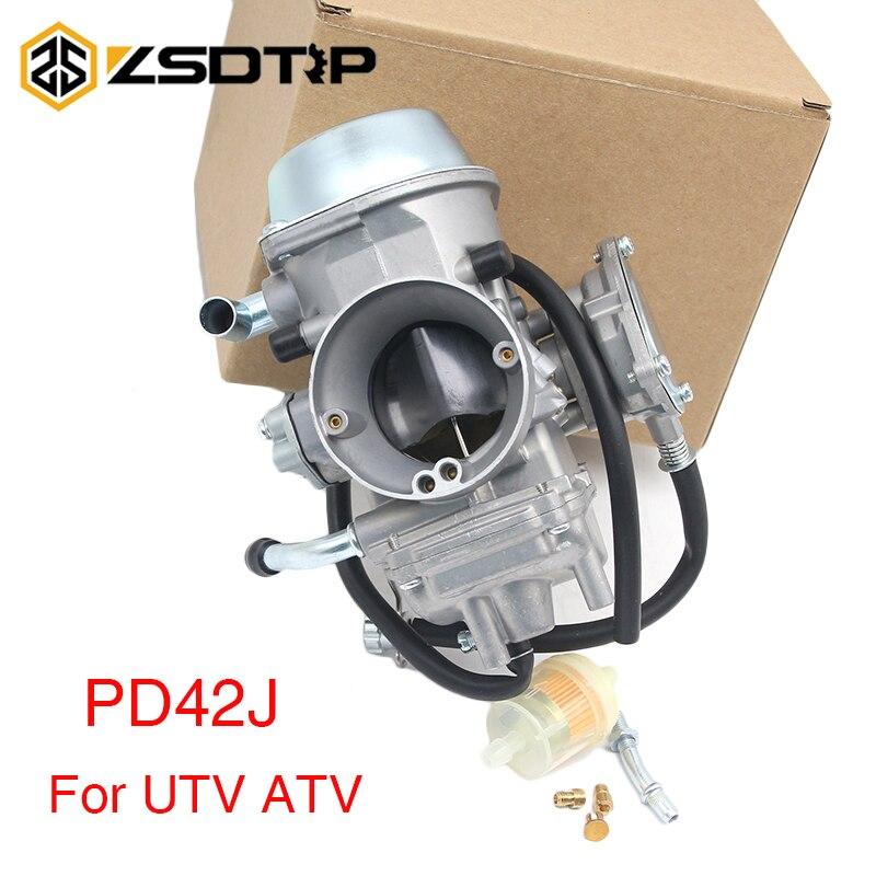 ZSDTRP Motorcycle PD42J 42mm Vacuum Carburetor Case For Yamaha Honda UTV ATV Quad 400cc to 700cc