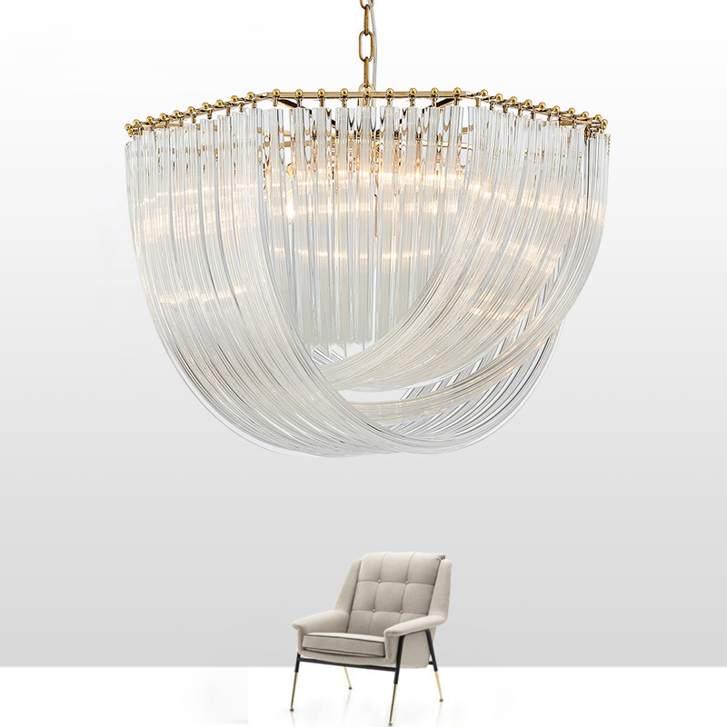 New Modern Glass Chandelier Lighting Luxury Home Decoration LED Cristal Lamp
