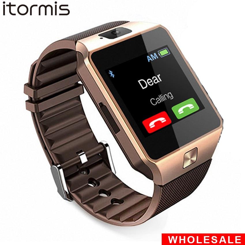 Dz09 bluetooth relógio inteligente smartwatch sim do telefone móvel tf cartão pedômetro reloj inteligente pk a1 relógio inteligente para android ios
