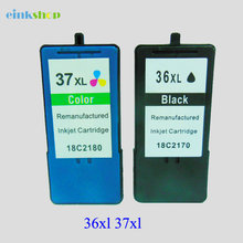 2pk  36XL 37XL BLACK & COLOR Ink Cartridge for Lexmark X3650 X4650 X5650 36 37