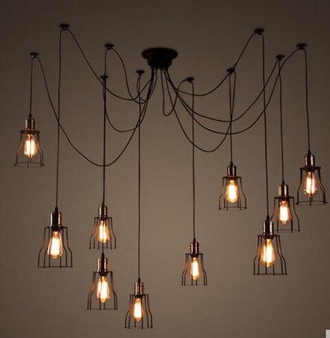 industrial lighting diy. DIY Loft Style Lifting Rack Droplight Edison Pendant Light Fixtures Vintage Industrial Lighting For Dining Room Hanging Lamp-in Lights From Diy