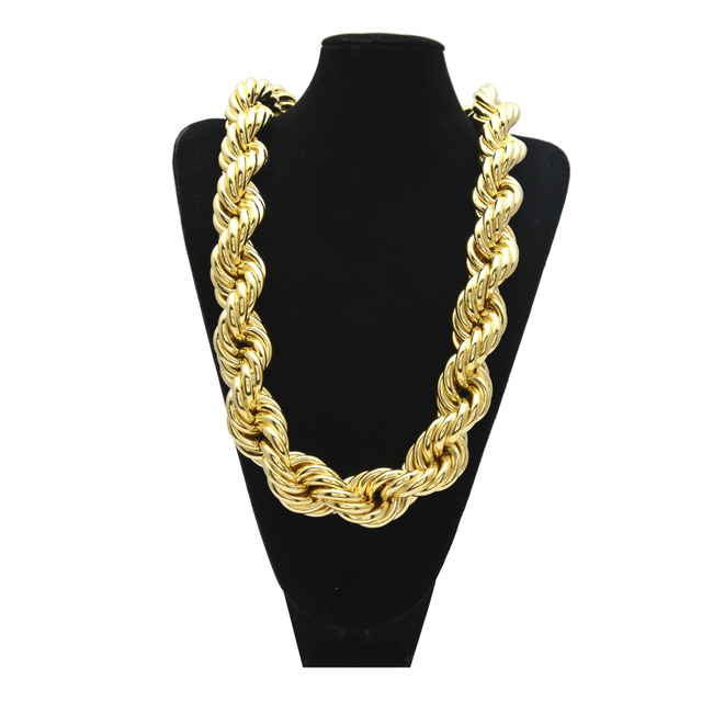 c5eeb0f7e7c Super Big 510g Exaggeration Hip Hop Jewelry Gifts RUN DMC Necklaces Women  Men Golden Bling Charm