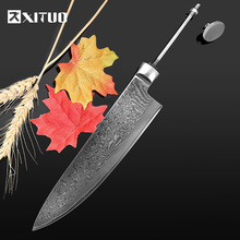 XITUO DIY chef knife Blanks 8 inch vg10 damascus steel Handmade Blade material Billet japanese knife kitchen accessories Tools 1piece damascus steel knife blanks gift collection straight knife tea knife blanks tea tools needle