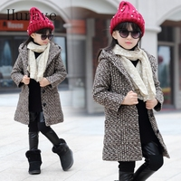 Hurave 2017 Girls coat jacket plaid print jackets for toddler kids clothes girl outwear autumn outwear thick winter