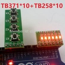 10 PCS 4 Button keypad keyboard Tact switch & 10 PCS 6 bit Red LED Module kiy for Arduino UNO MEGA2560 Pro mini Breadboard