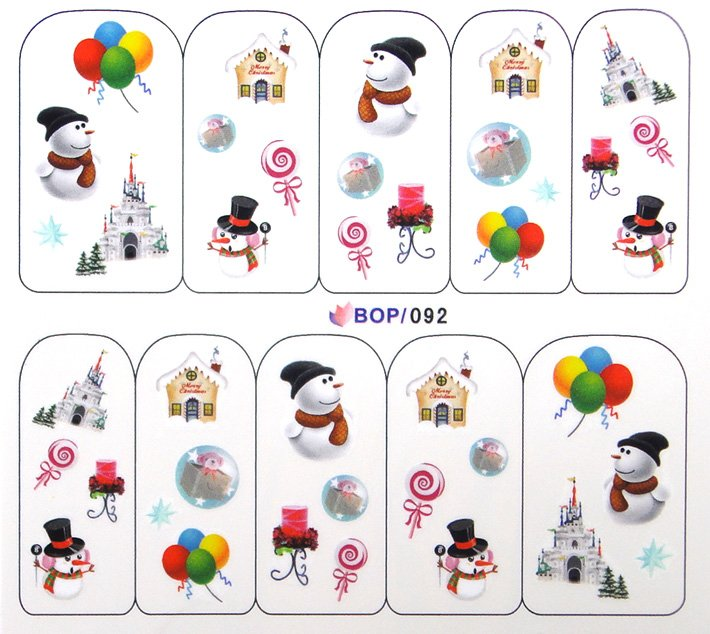 Aliexpress.com : Buy 8 Designs Full Cover Water Decals Xmas ...