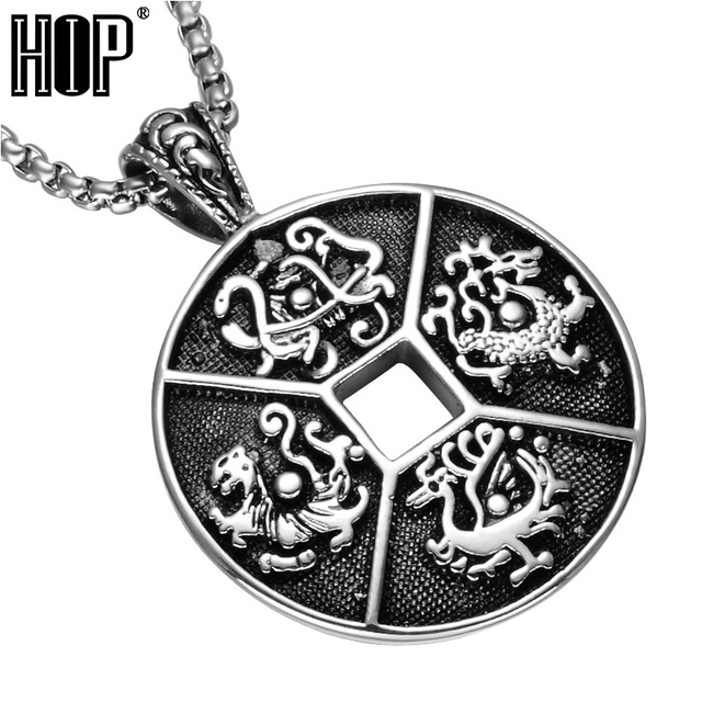 Hip four ancient mythical beasts of china patron saint pendants hip four ancient mythical beasts of china patron saint pendants necklaces 316l stainless steel chain necklace aloadofball Choice Image