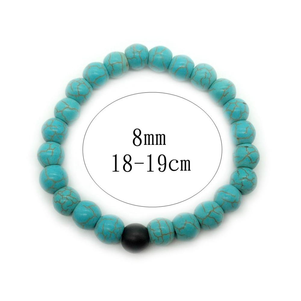 2PC Lover Relationship Bracelet Set Lava Beads Stone Bracelet Women Men Fashion Jewelry Gift for him pulsera