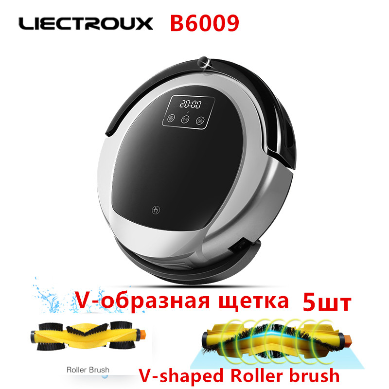 (For B6009)Accessories for Robot Vacuum Cleaner LIECTROUX B6009, V-shaped Roller brush 5pcs for b6009 water tank for liectroux robot vacuum cleaner b6009 1pc pack for b6009 water tank for liectroux robot vacuum c