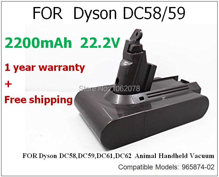 ФОТО New 2200mAh 22.2V Replacement Batteries DC58 DC59 DC61 DC62 Cordless Handhold Pet Version Vacuum Cleaner