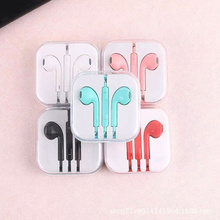 Drive-by-wire Earphone 3.5mm in-ear Wired Earphones dual ear stereo microphone mobile phone Headset For iPhone Samsung Xiaomi junerose jr i710 in ear stereo earphone w microphone for iphone samsung htc pink white