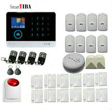 SmartYIBA Multi Language RFID Wifi GSM GPRS Alarm System For Security Protection SMS Alarmes With 2pcs