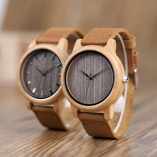 BOBO BIRD WA18L10 Vintage Lightweight Round Bamboo Wood Quartz Watches With Leather Bands for Women Men watches top brand design 5