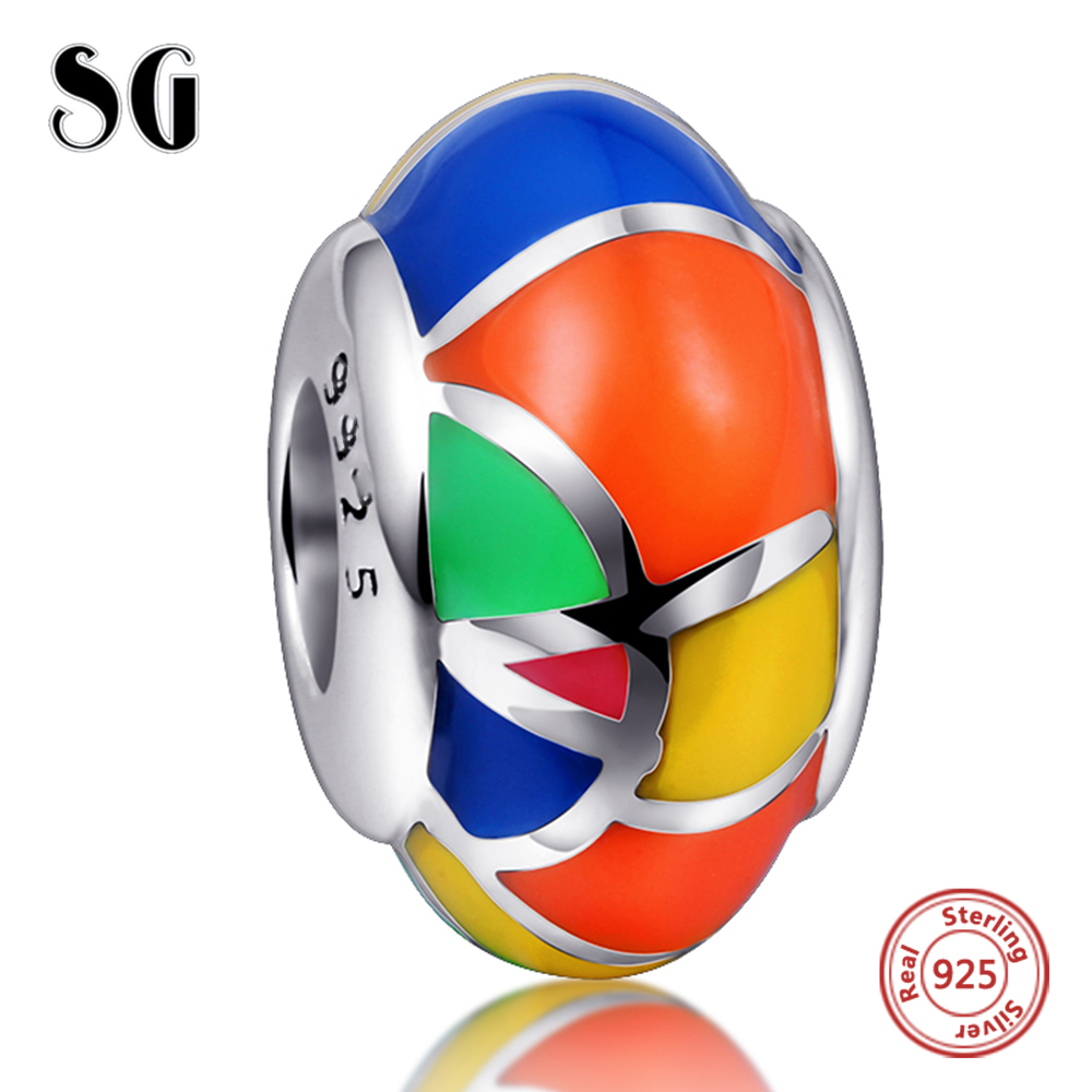 2018 NEW Style hot selling colorful enamel 925 sterling silver beads Fits European Pandora Charms Bracelet jewelry high quality