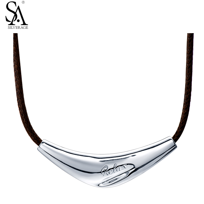 SA SILVERAGE Real Sterling Silver 925 Jewelry Rose Choker Necklaces for Women Fine Jewelry Classic Unique Necklaces & Pendant sa silverage real 925 sterling silver crystal key necklaces pendants for women silver chain pendant necklaces wedding gifts