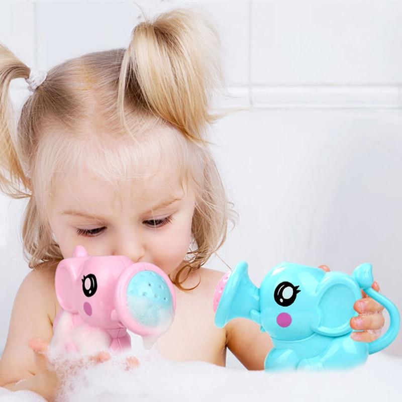 Newborn Plastic Elephant Watering Pot Bath Toys Baby Swimming Bathroom Bath Shower Tool Water Spray Toys  Kids Gift