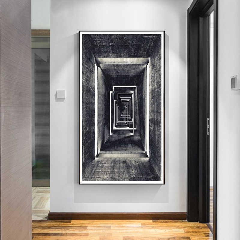 Retro Geometris Abstrak Kanvas Lukisan Abstrak Dekoratif Poster Cetak Dinding Seni Gambar Pop Living Kamar Home Kantor Dekorasi