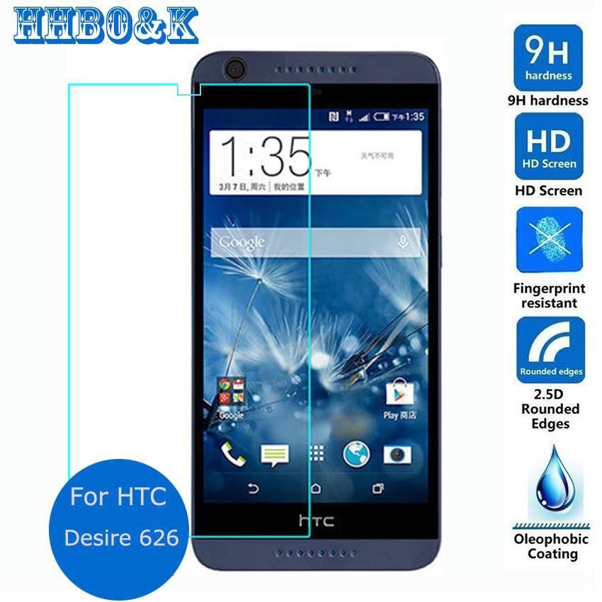 For HTC Desire 626 Dual Sim Tempered Glass Film 2 5 9h Safety Protective Screen Protector