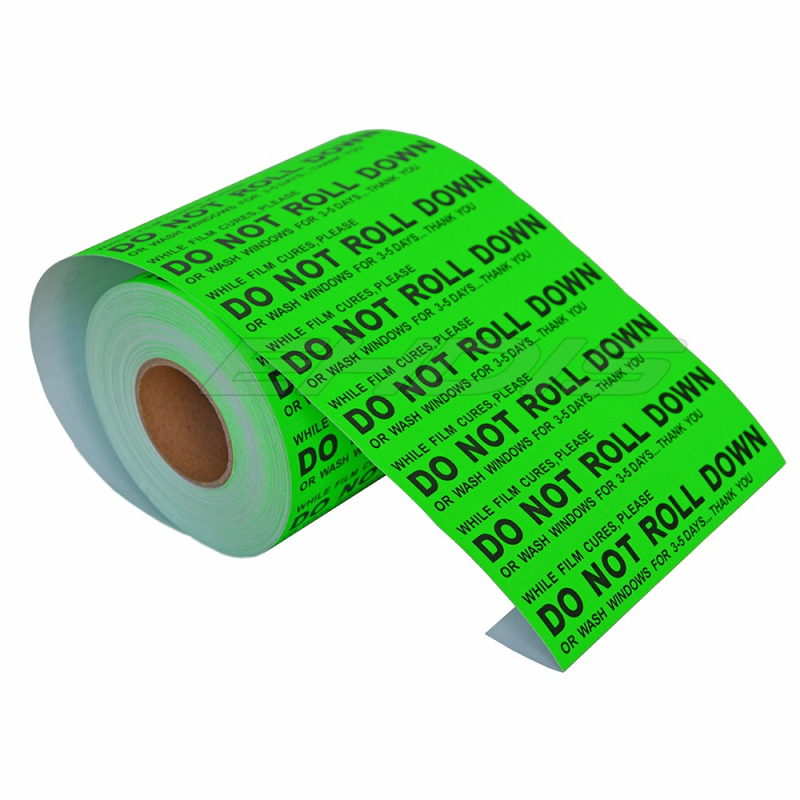 100pcs green color 125*25mm adhesive tape for packing warning labels packaging labeling DO NOT ROLL DOWN sticker CN043G
