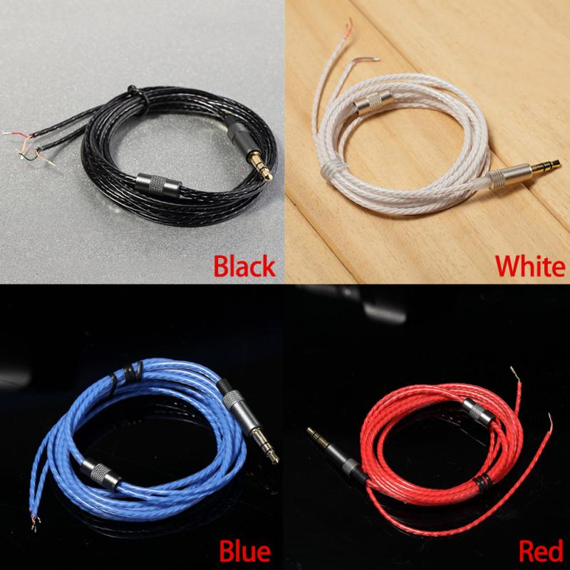 Headphones Earphone Repair Cable Maintenance Wire For DIY Maintenance Repair 1.2M,3.5MM Audio Cable Headset Wire Without MIC #21