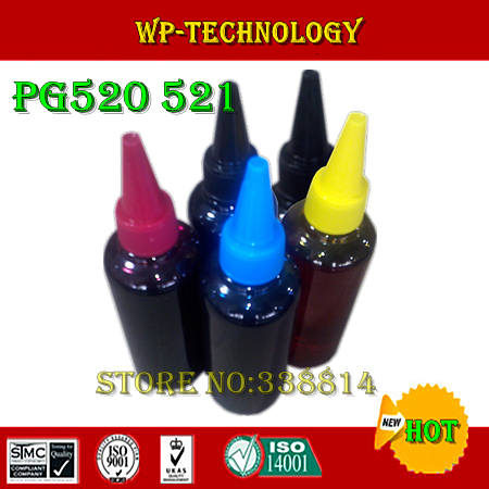ФОТО Dye ink,Suit for PGI520 CLI521,Suit for Canon MP540 MP550 MP620  MP640 MX860 IP3600 IP4600,Specialized High quality Ink, 5 Color
