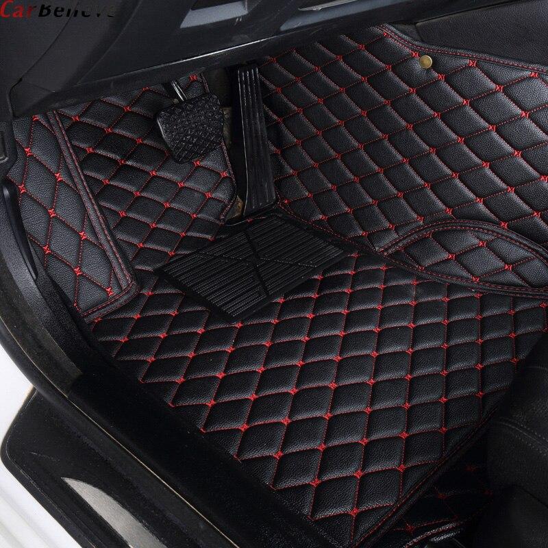 Car Believe Auto car floor Foot mat For chrysler 300c waterproof car accessories car believe auto car foot floor mat for porsche cayenne 958 2017 2010 panamera cayman 955 957 958 waterproof car accessories