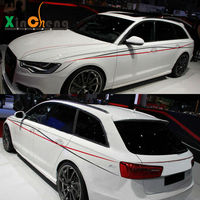 Car stlying Boby Decorative Pull Flowers Garland Modified Car Stickers Striped for Audi A4L A6 Waist Stickers