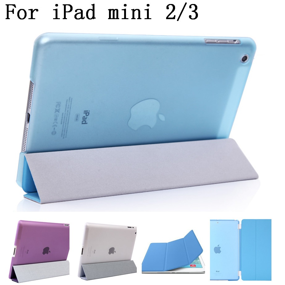 original quality PU Leather Stand Flip cover shell Case for ipad mini 2 3 smart cover,display for Apple iPad logo,SKU0132H4 for apple ipad air 2 pu leather case luxury silk pattern stand smart cover