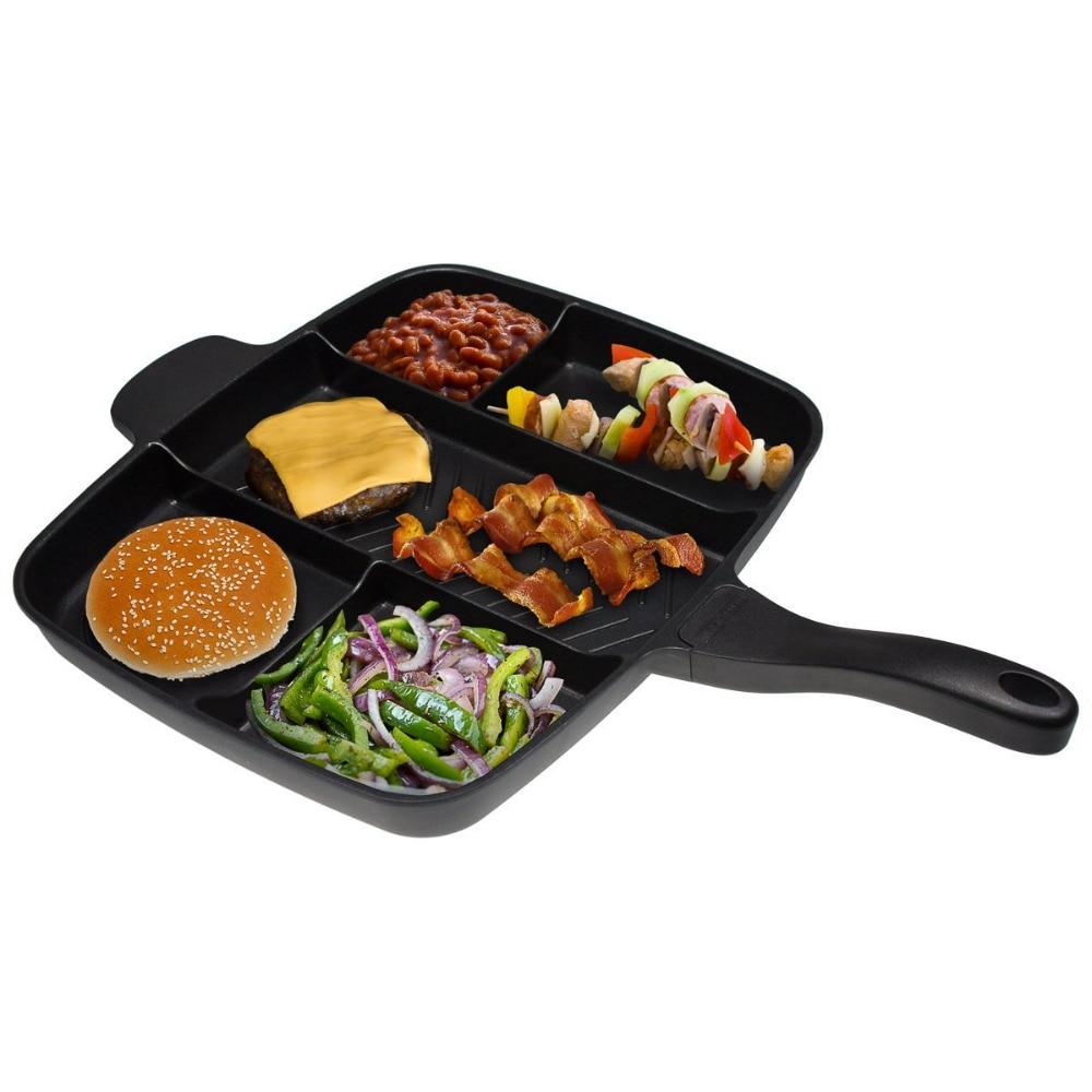 Wuheyi multi-function frying pan multi-functional aluminum pan black square baking pan 012Wuheyi multi-function frying pan multi-functional aluminum pan black square baking pan 012