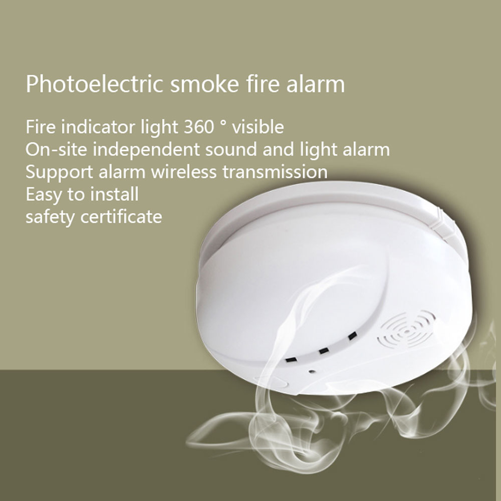 NEW Hot Wireless Smoke Fire Leakage Detector Sensor 433MHz For Our office home security Alarm System ...