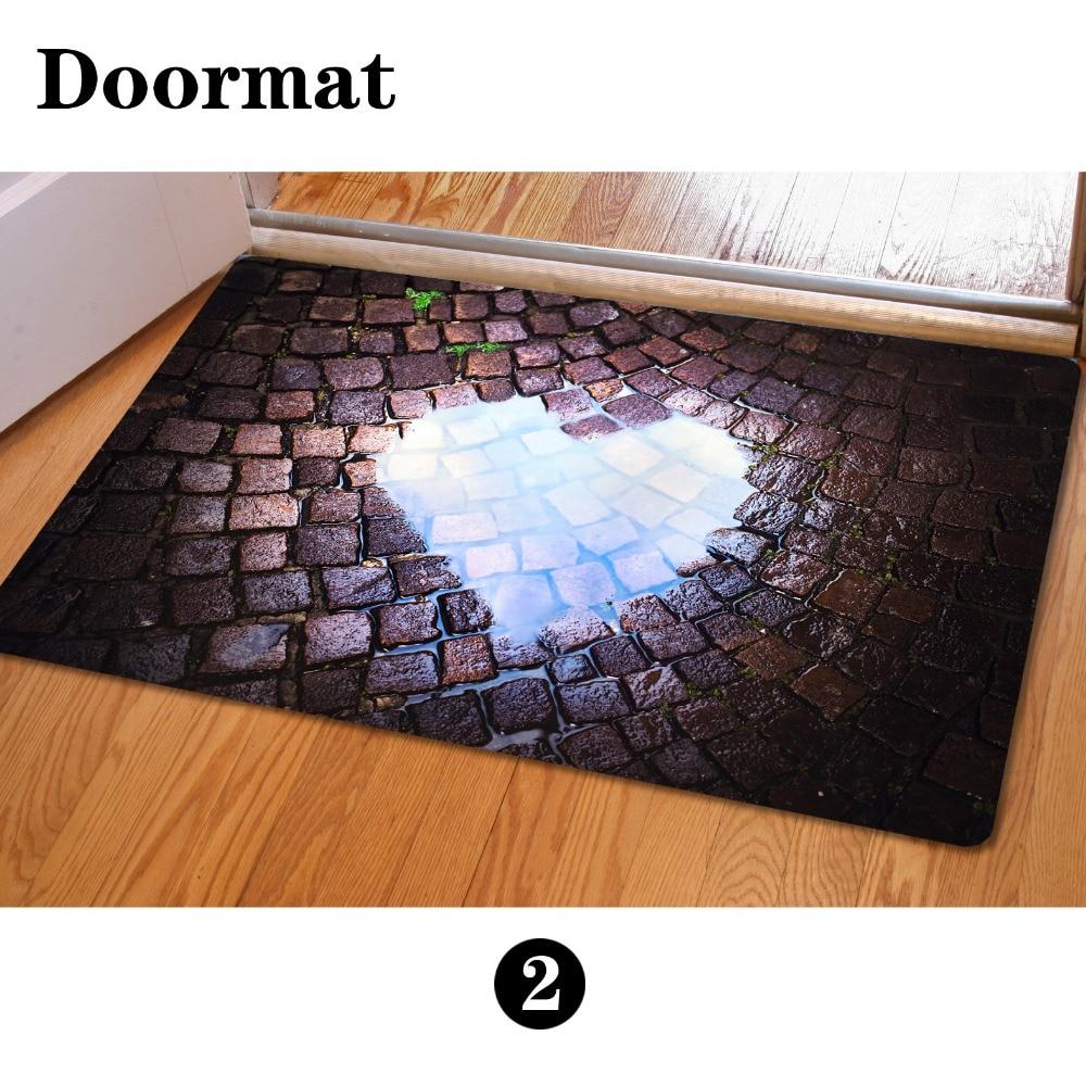 Newest floor mats 400 600mm 3d print house door mats cute squirrel bathroom anti