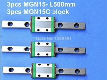 3pcs MGN15 L500mm linear rail + 3pcs MGN15C carriage 1pcs mgn15 l300mm linear rail 1pcs mgn15c carriage