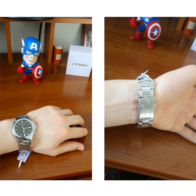 SINOBI Casual MenWatches of Back Light Stainless Steel
