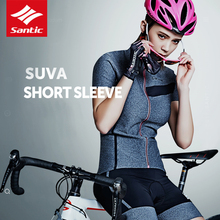 Santic 2019 Women Racing Cycling Jersey Clothing Summer Urban Road Riding Shirts Short Sleeve MTB Bike Pro  Maillot Ciclismo