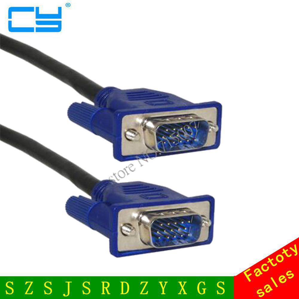 VGA Cable Male To MaleBraided Shielding High Premium HDTV VGA Computer Tv Display Signal Cable 0.3m/0.5m/1.5m/3m