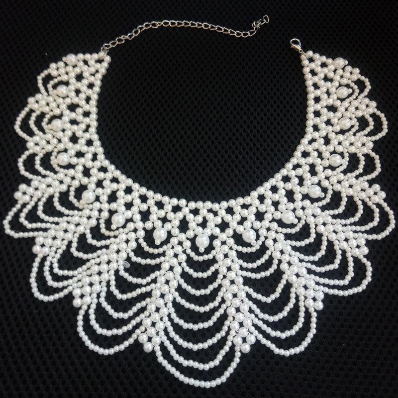 2018 accessories jewelry new rhinestone collar false jewelry necklace beads detachable collars apparel accessories vintage style