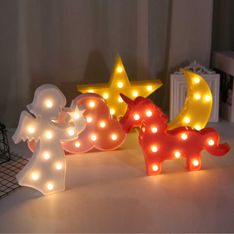 Natal casa lâmpada led flamingo unicórnio abacaxi decorações da árvore de natal luz para festa de casamento do chuveiro do bebê decoração diy, b
