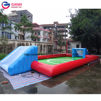 Free air blower inflatable football court arena for indoor / outdoor PVC high quality inflatable soap soccer field soccer court