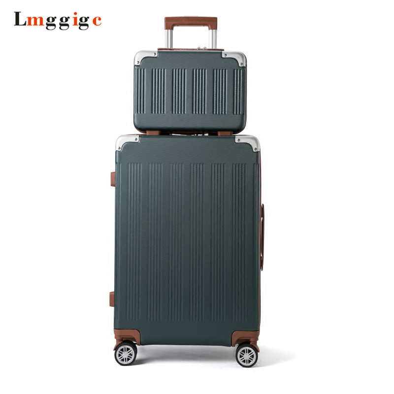 Universal Wheel Suitcase bag,Strong Zipper Luggage, ABS Shell Case,Aluminum Alloy Rods Travel Carry-Ons with password Lo batman luggage carry ons children suitcase abs travel box universal wheel spinner trolley hardcase bag with tsa password lock